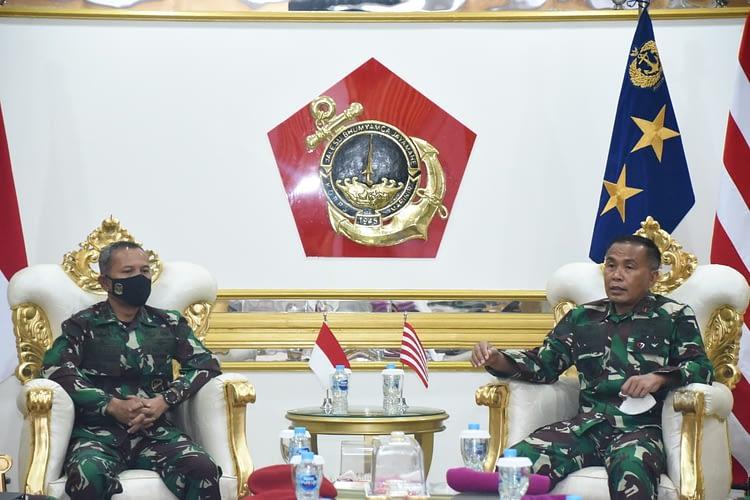 Dankormar Terima Kunjungan Dankoopsus TNI