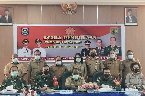 Proses Pembangunan di TMMD 110 Wilayah Kodam XVIII/Kasuari Telah Mencapai 47%
