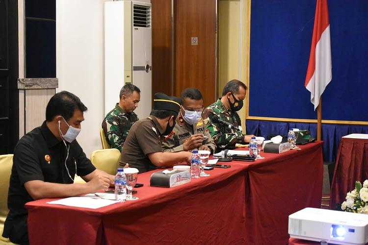 Pangdam XVIII/Kasuari Ikuti Rakor persiapan Pilkada serentak Provinsi Papua Barat