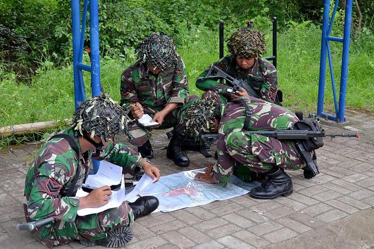 Latihan Pemantapan Rupanpur Yonif 1 Marinir