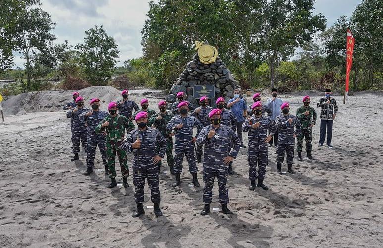 Danpasmar 1 Hadiri Peresmian Pantai Pendaratan Korps Marinir