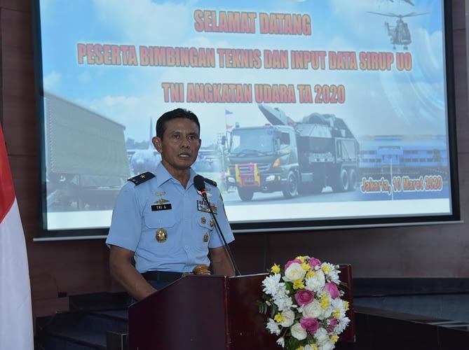 """Sosialisasi dan Bimtek Sirup TA 2020, """"Aslog Kasau: TNI AU Bertekad Meningkatkan Input Data Pengadaan dalam Bentuk Aplikasi"""""""