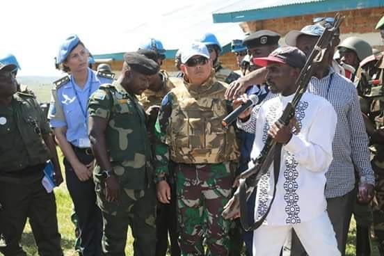 Operasi Laba-Laba Satgas TNI MONUSCO, Ex Combatan Serahkan Senjata