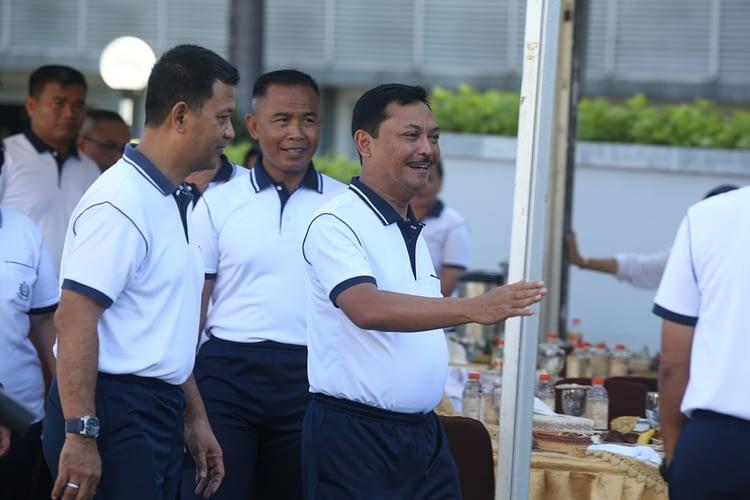 Dankormar Dampingi Kasal Olahraga Bersama Di Seskoal