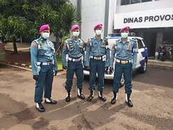 Dinas Provos Korps Marinir Putus Rantai Virus Corona, Lakukan Himbauan Kepada Warga Komplek TNI AL