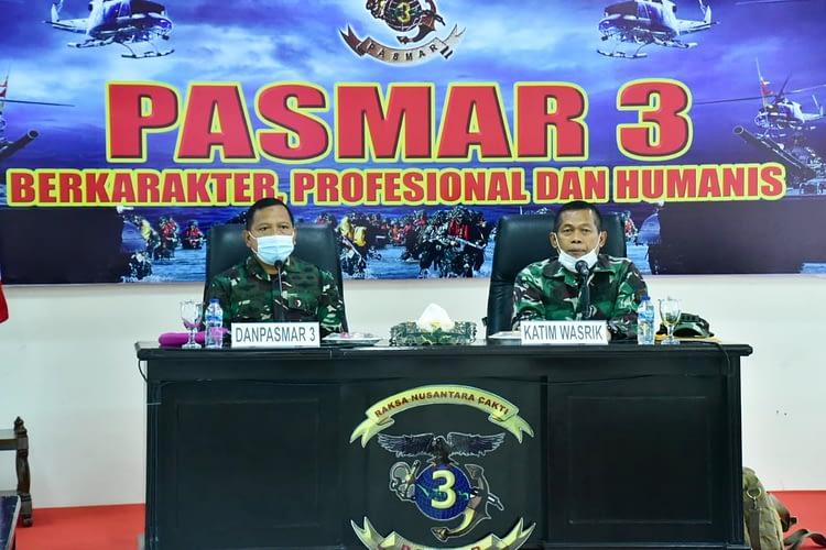 TIM WASRIK ITJEN TNI PERIKSA PASMAR 3 SORONG