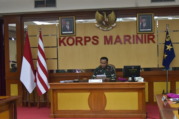Dankormar Membuka Rakorpers Korps Marinir Tahun 2021