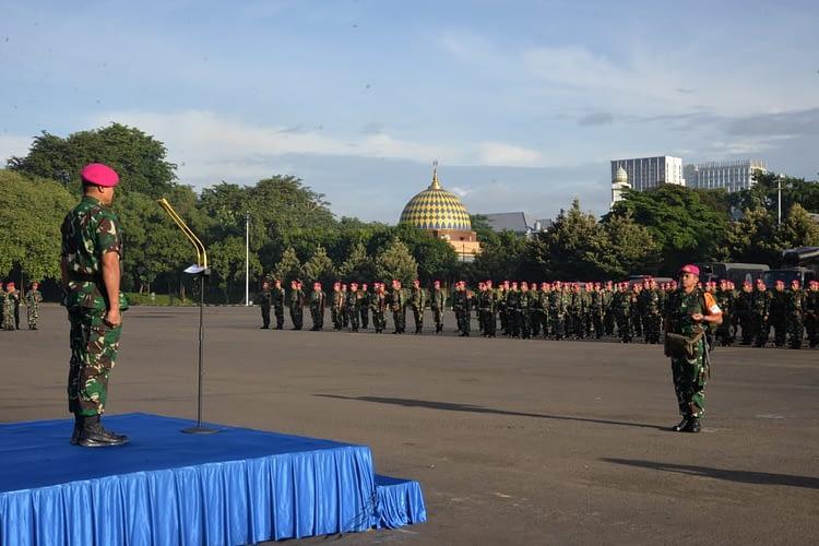 Latihan Penanggulangan Bencana Alam Korps Marinir Resmi Dibuka