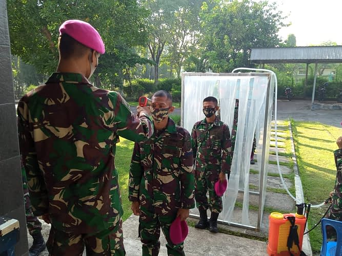 Batalyon Roket 2 Marinir Laksanakan  Jam Komandan Jelang Lebaran 2020