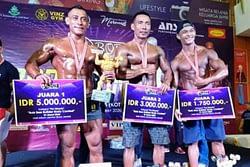 Membanggakan Kopda Marinir Acep Febrianto Juarai Lomba Body Contest Di Jambi