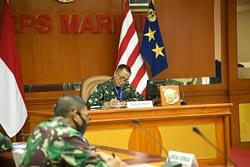 Dankormar Menghadiri Vicom Panglima TNI Dalam Pembahasan New Normal