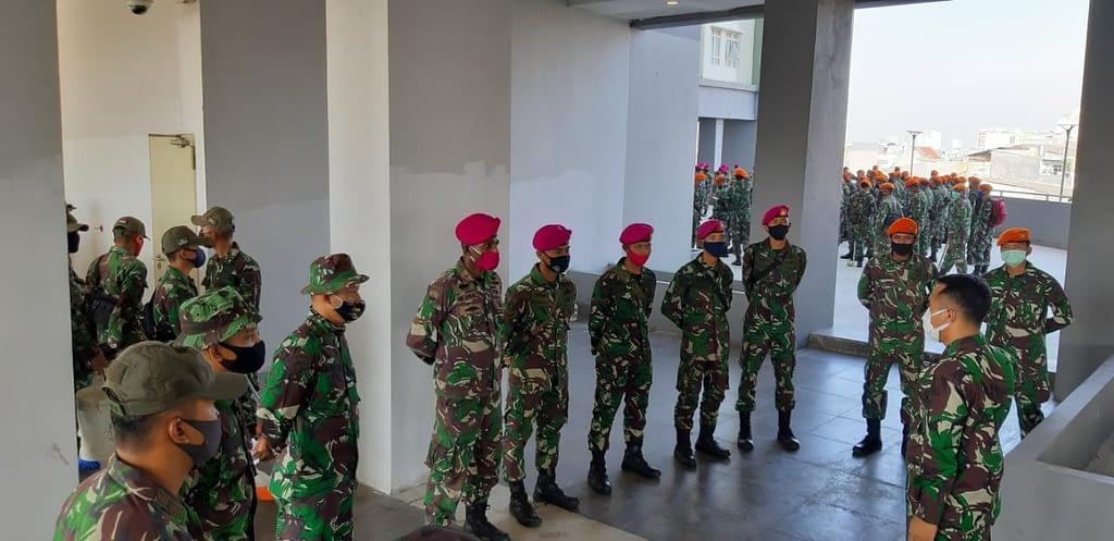 Pasmar 1 Kembali Terjunkan Prajuritnya Dalam Rangka RSD Wisma Atlet