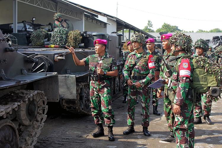 Yonranratfib 2 Mar Laksanakan Apel Gelar Pasukan dan Material Batalyon Tim Pendarat