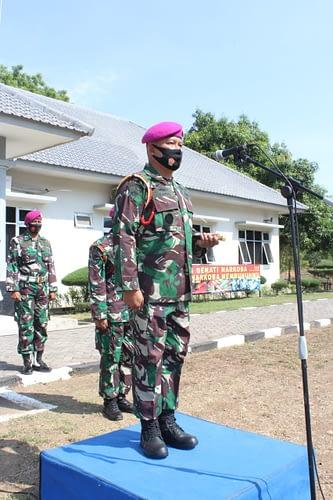 Komandan Puslatjabsus  Pimpin Upacara Pelepasan Purna Tugas dan Kenaikan Pangkat Prajuritnya