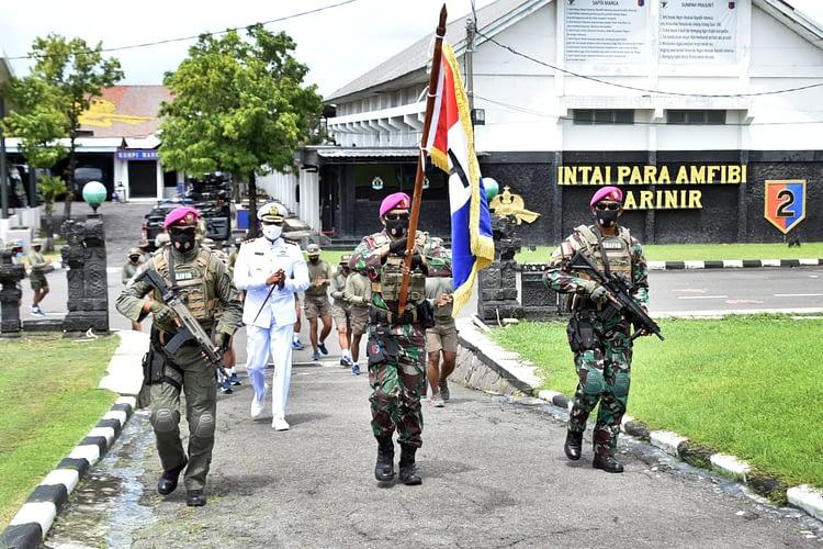 Membanggakan,Yontaifib 2 Mar Raih Predikat Batalyon Marinir Teladan Tingkat TNI AL