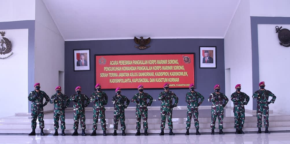 Dankormar Pimpin Sertijab Beberapa  Jabatan Strategis Marinir