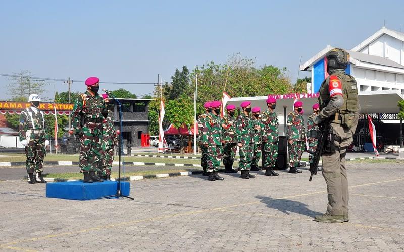 Apel Kesiapan Latihan Operasi Dukungan Pasukan Khusus Dan Latihan Operasi Dukungan Pasukan Khusus Gabungan TNI Al Ta. 2020