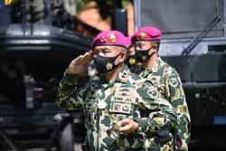 Marinir Gelar Upacara Peringatan HUT Ke 75 TNI Secara Virtual