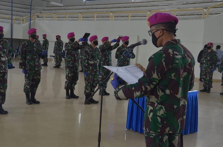 Komandan Pangkalan Marinir Jakarta Pimpin Serah Terima Jabatan