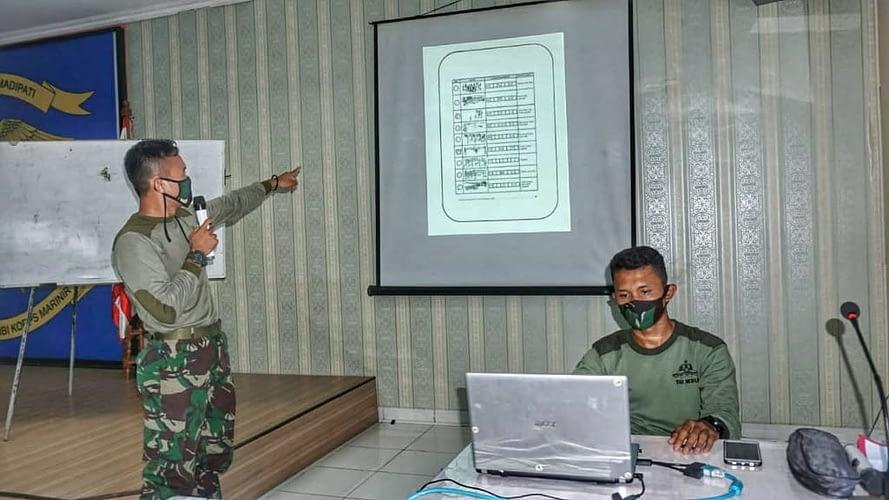 Yontaifib 1 Marinir Gelar Pelatihan Orienteering