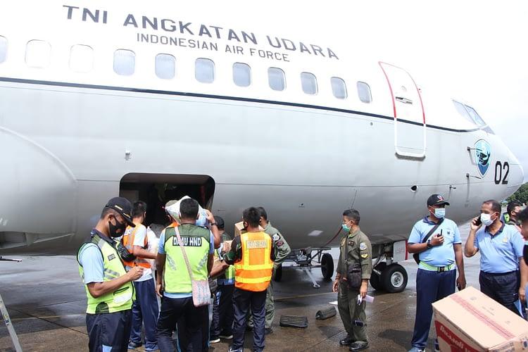 Pesawat TNI AU, Angkut Personel dan Bantuan Logistik ke Mamuju Sulbar
