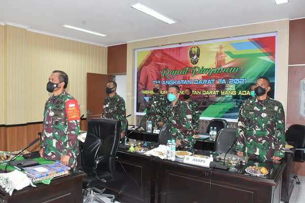Kodam XVIII/Kasuari Ikuti Rapim TNI AD Secara Virtual