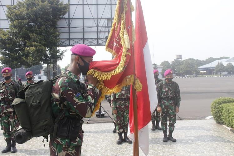 Lima Belas Prajurit Muda Baret Ungu Perkuat Yonif 4 Marinir