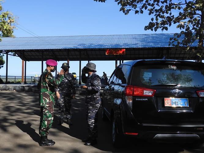 Komamdan Puslatpurmar 5 Baluran Terima Kunjungan Komandan Lanal Banyuwangi