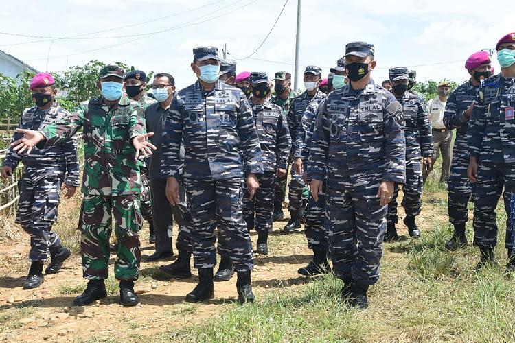 Dankormar Dampingi Kasal Kunjungi Kimal Kotabumi