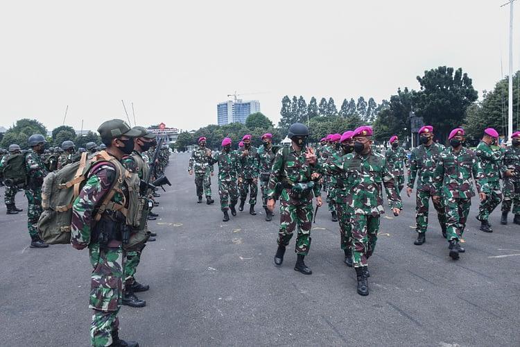 Brigjen TNI (Mar) Hermanto Pimpin Apel Gelar Kesiapan Latpasrat Korps Marinir Tahun 2021