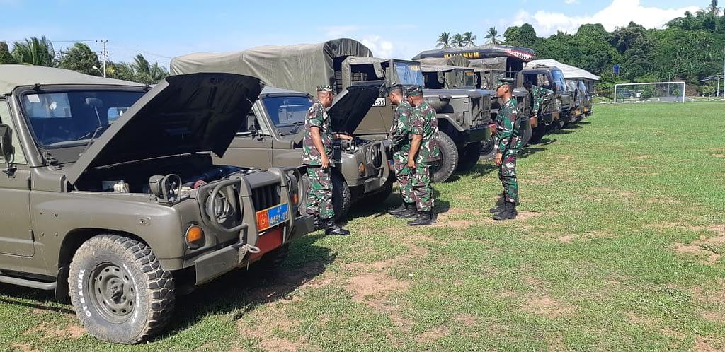 Danbrigif 4 Marinir/BS Cek Langsung Kesiapan Kendaraan