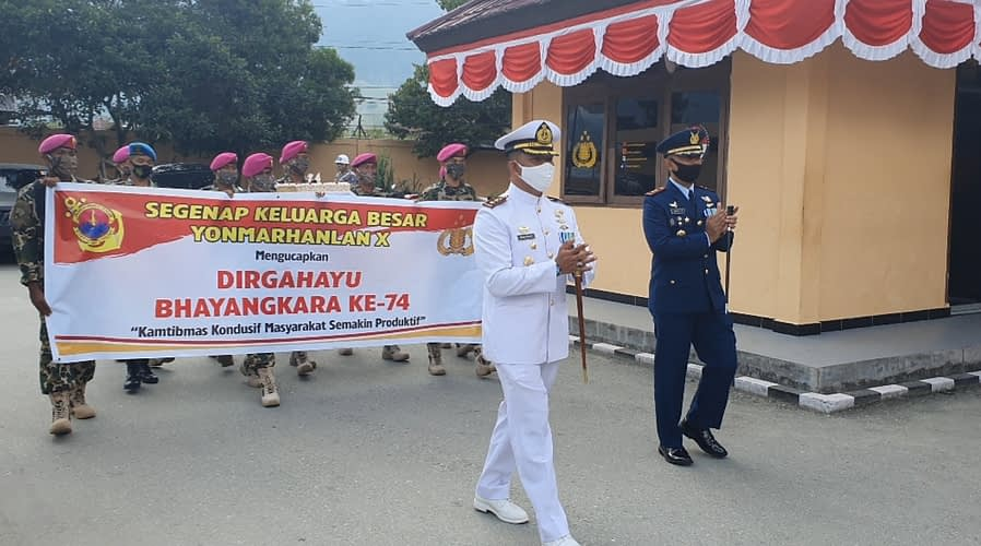 Personel Yonmarhanlan X Adakan Pendadakan di Polres Jayapura