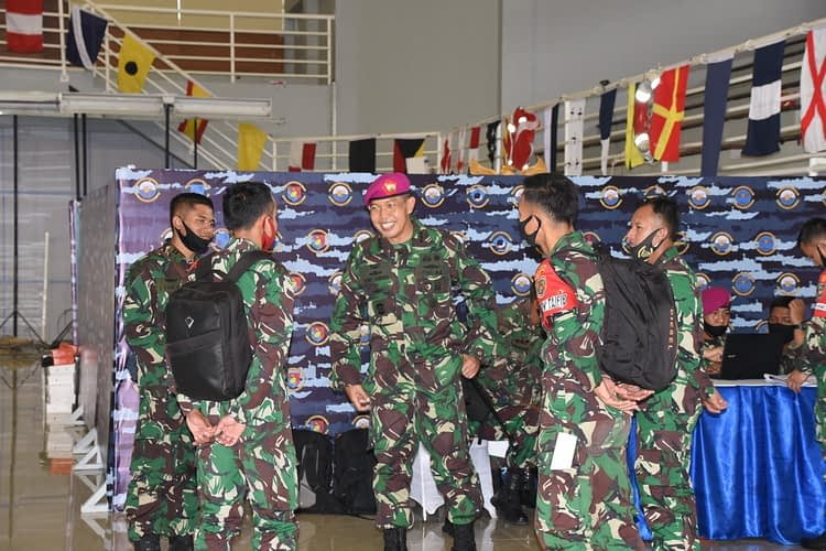 Jelang Serbuan Amfibi Marinir Laksanakan Tactical Floor Game