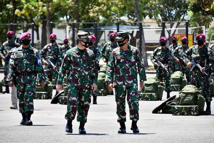 Danpasmar 2 Dampingi Waasops Panglima TNI Cek Kesiapan Satgasmar Pam Ambalat XXIV dan Satgasmar Pam Puter XXIV