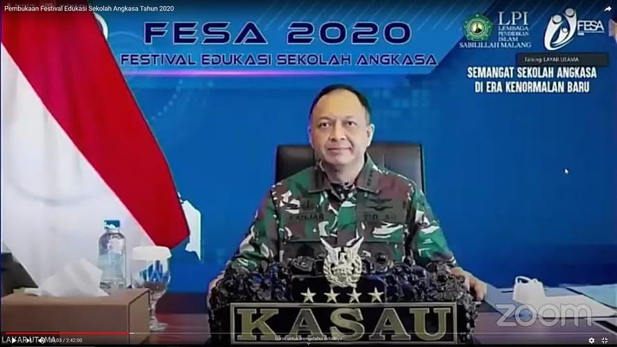 FESA 2020 KASAU: Covid-19 Jangan Menjadi Penghalang Mencetak Generasi Yang Unggul