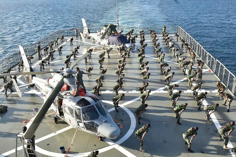 Marinir Laksanakan  Drill Kering Menjelang Bertempur