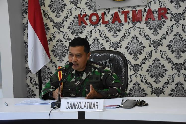 Dankolatmar Paparan Latihan Pratugas Satgasmar dan Ambalat XXVI TA.2020 kepada Waasop Panglima TNI lewat Vicom