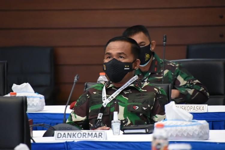 Dankormar Hadir Dalam Rapat Pimpinan TNI-Polri