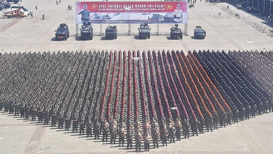 Marinir Ikuti Apel Gelar Patroli Skala Besar Tni-Polri 2019
