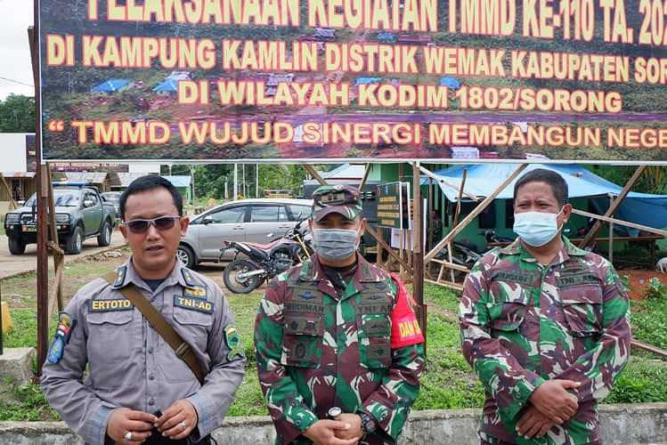 Wakapendam XVIII/Kasuari Tinjau Lokasi TMMD Ke-110 Kodim 1802/Sorong