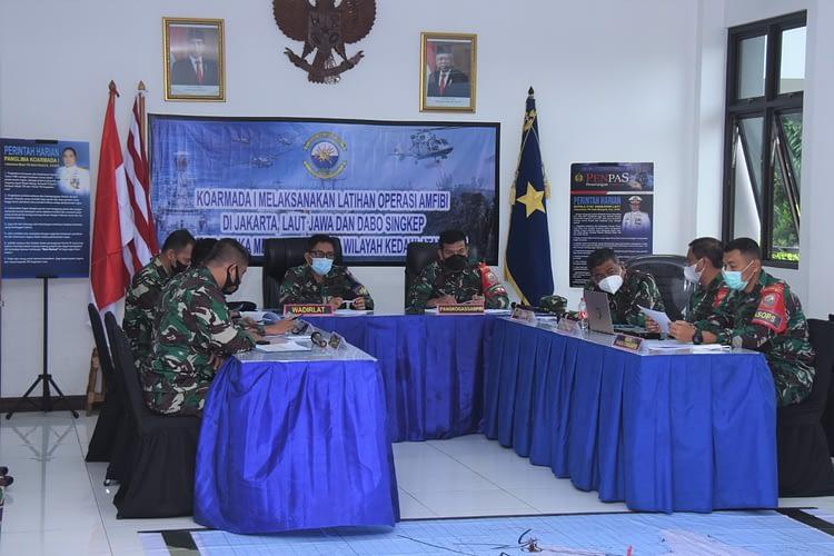 Brigjen TNI (Mar) Hermanto Ikuti TFG Gladi Posko Latihan Operasi Amfibi Tahun 2021