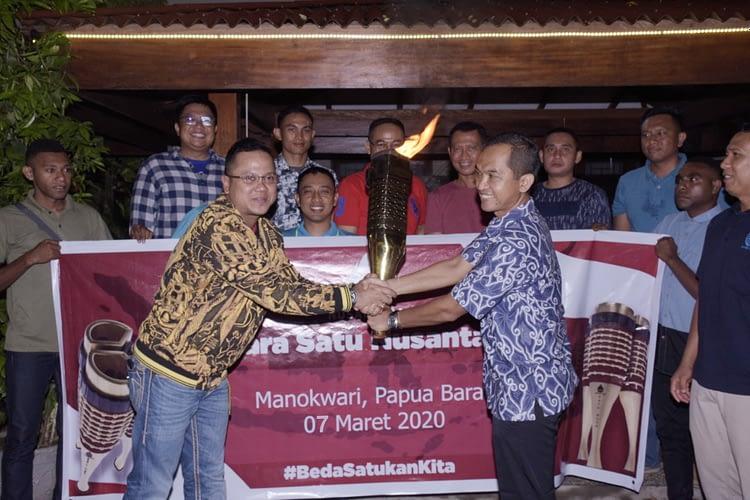 """Torch Realy, """"Bara Satu Nusantara"""" Tiba di Manokwari, Papua Barat"""
