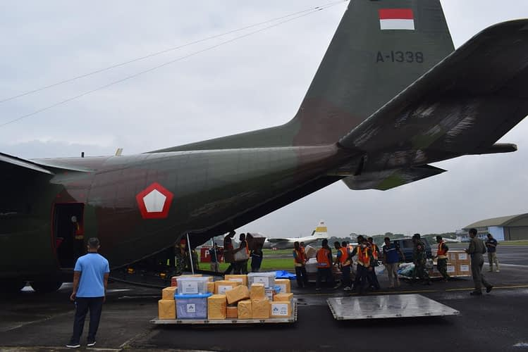 TNI Angkatan Udara Terbangkan Empat Pesawat Guna Bantu Korban Bencana di Sulbar dan Kalsel
