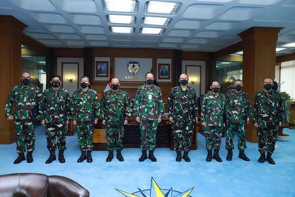 Kasau Terima Laporan Kenaikan Pangkat Sembilan Pati TNI AU