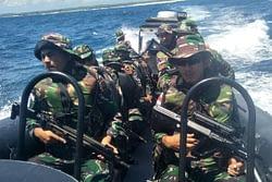 Satgas Pulau Terluar XXIII Laksanakan Patroli Laut Di Pulau Ndana