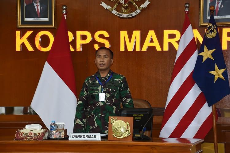 Dankormar Ikuti Rapat Vicon dengan Kasal dan Seluruh Pimpinan Angkatan Laut