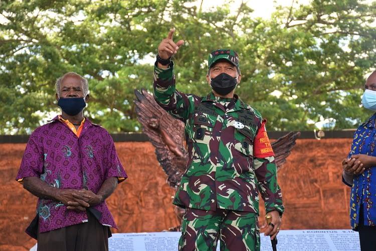 Peringati Hari Juang TNI AD, HUT Ke-4 Kodam XVIII/Kasuari, dan Bulan Kasih Papua Barat 2020, Karya Bakti Digelar Kodam di 2 Pulau di Manokwari