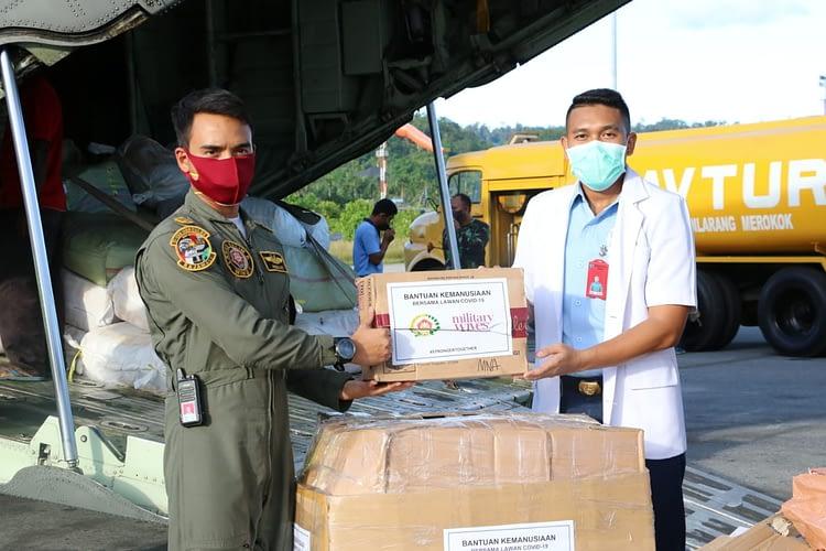 Pesawat TNI AU Angkut Alat Kesehatan ke Biak