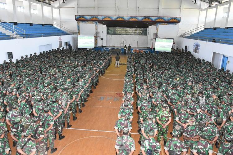 Memuaskan, Hasil Pembekalan 700 Prajurit Satuan BKO Koramil Persiapan Kodam XVIII/Kasuari