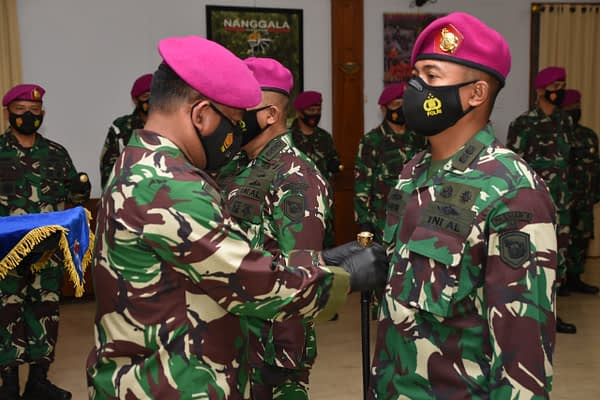 Serah Terima Jabatan Aspers dan Aslog Komandan Pasmar 1